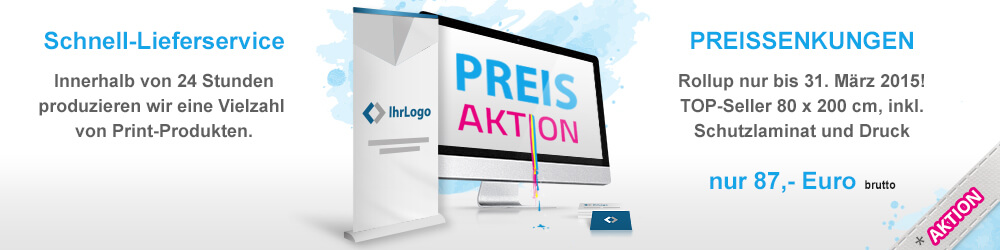 Wir produzieren innerhalb von 24h eine Vielzahl von Print-Produkten